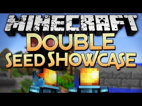 Minecraft: 1.4 Seeds - Double Seed Showcase - Smallest Stronghold EVER.