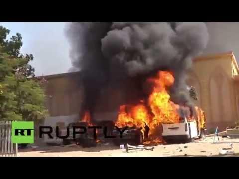 Disturbios en Burkina Faso: prenden fuego a un hotel de 5 estrellas
