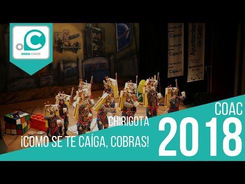 La agrupación ¡Como se te caiga, cobras! llega al COAC 2018 en la modalidad de Chirigotas. Primera actuación de la agrupación para esta modalidad.
