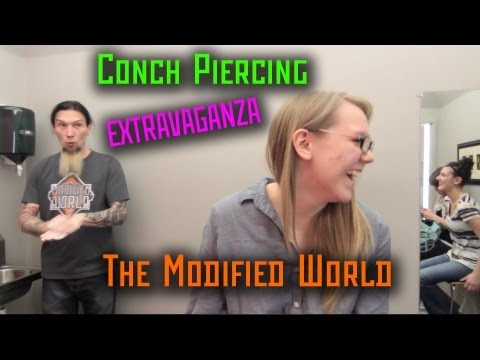 Conch Piercing EXTRAVAGANZA- THE MODIFIED WORLD