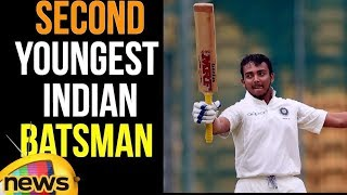 Prithvi Shaw is the Second Youngest Indian Batsman in the Indian Cricket Team after Sachin Tendulkar - MANGONEWS