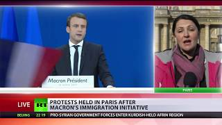 Macron vs Migrants: Protests in Paris after initiative to tighten laws on refugees - RUSSIATODAY