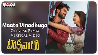 Maate Vinadhuga Official Remix Vertical Video | Vijay , Priyanka | Sid Sriram | Jakes Bejoy - ADITYAMUSIC