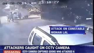 Caught on CCTV camera: Police attacked in Delhi - NEWSXLIVE
