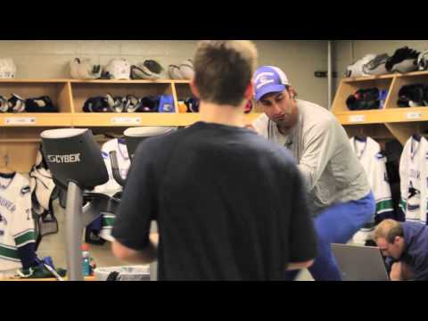 Canucks behind the scenes in Detroit (Feb 24, 2013)