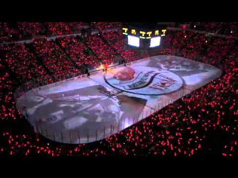 Detroit Red Wings 2012 Stanley Cup Playoff intro @Joe Louis Arena
