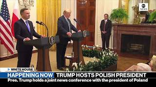 Trump holds news conference with Polish president | ABC News - ABCNEWS