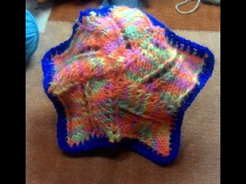 Star Shape Mat from left over / waste  wool. (बची  हुई ऊन  का उपयोग )