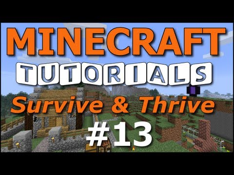 Minecraft Tutorials - E13 Cave Navigation Basics (Survive and Thrive II)