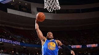 Andre Iguodala's Ridiculous Behind The Back Pass & Hits 7 3-Pointers