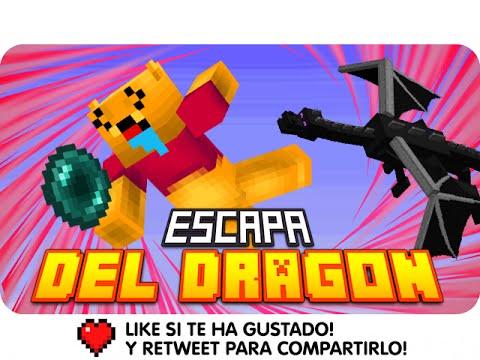 VICTORIA!! ESCAPA DEL DRAGÓN! D:!! | Minecraft