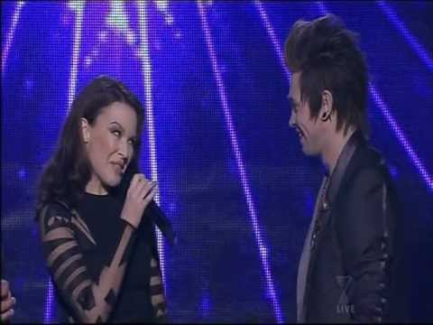 "Kylie Minogue & Reece Mastin sing ""Kids"" on X Factor Australia 2011 Grand Final show"