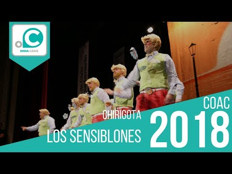 La agrupación Los sensiblones llega al COAC 2018 en la modalidad de Chirigotas. Primera actuación de la agrupación para esta modalidad.