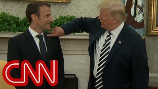 Touchy-feely Trump and Macron - CNN
