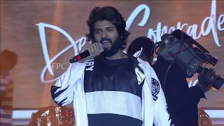 Vijay Devarakonda Mass Speech At Dear Comrade Music Festival - TFPC