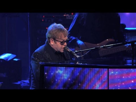 Sir Elton John greets the 'Rocket Men'