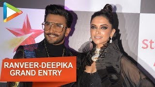 Cute Couple Ranveer-Deepika candid moment at Star Screen Awards 2018 - HUNGAMA