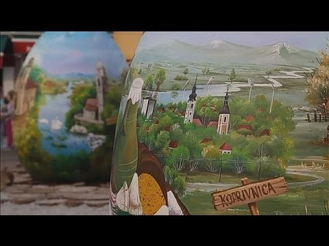 Giant eggs to celebrate Croatian naive art - le mag