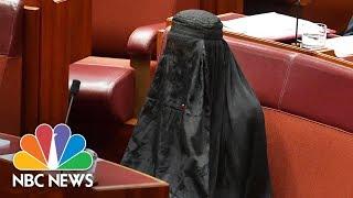 Australian Senator Caused Outrage When She Wore Burqa In Bid To Ban Them | NBC News - NBCNEWS