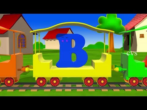 Alphabet Train rhyme  - 3D Animation ABCD Train rhyme for children