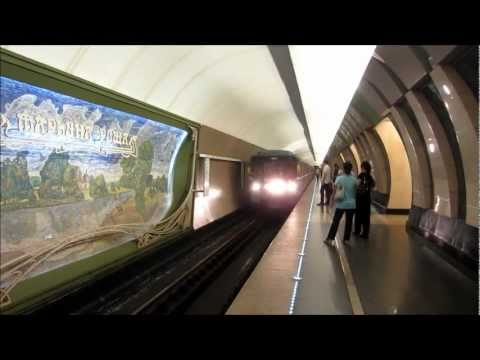 The Beautiful Stations of Moscow Metro and the Trains... (Moscow, Russia)