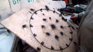 Мой шаблон кондуктор для изгиба и сваривания обручей из металла своими руками