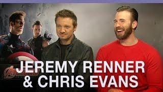بالفيديو- جيرمي رينر وكريس إيفانز يعتذران عن وصفهما لسكارليت جوهانسون في Avengers بالعاهرة