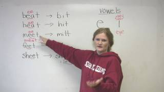E and I vowels, English Pronounciation Video Lesson, engvid
