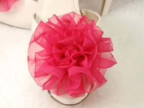 Chiffon Fabric FLower Rose, Tutorial, DIY