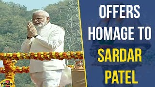 PM Modi Offers Floral Homage To Sardar Patel At Statue of Unity | Mango News - MANGONEWS
