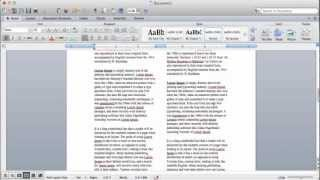 2 column word template