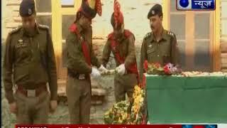 जम्मू-कश्मीर के कुपवाड़ा में आतंकियों के साथ मुठभेड़ में शहीद पुलिसकर्मी दीपक थुसु को श्रद्धांज - ITVNEWSINDIA