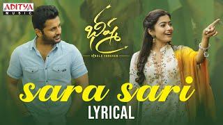 Sara Sari Lyrical | Bheeshma Movie | Nithiin, Rashmika| Venky Kudumula | Mahati Swara Sagar - ADITYAMUSIC