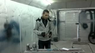 покраска авто в гараже работа по сухому расход материалов и про пыль
