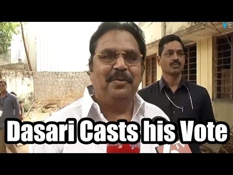 Dasari Narayana Rao Cast his Vote - 2014 Elections