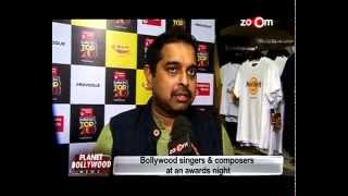 Bollywood Singers and Composers at an Awards Night