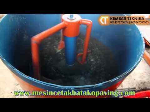 Video Mesin Mixer Dan Mesin Cetak Batako