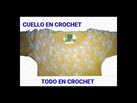Cuello en crochet - paso a paso - how to crochet -how to crochet a lace collar - bebe - damas canesu