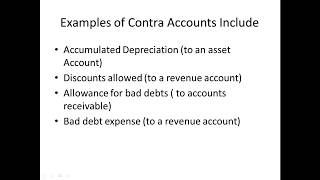 What is a contra asset?