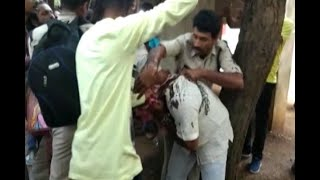200 cows die: Ink smeared on BJP leader Harish Verma's face by Youth Congress - ABPNEWSTV