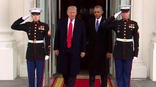 Trump, Obama depart White House - CNN