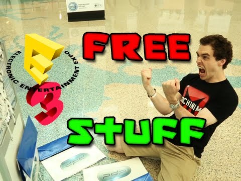 HOW TO GET FREE STUFF AT E3 2013 w/ ChimneySwift11 (HD) E3M13
