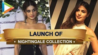 Rhea Chakraborty and Niddhi Agerwal at the launch of Rebecca Dewan's Nightingale Collection - HUNGAMA