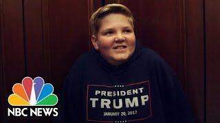 Donald Trump's Inauguration Is This Boy's Dream Trip | NBC News - NBCNEWS