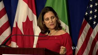 Significant Differences Remain After 4th Round of NAFTA talks End in Washington - VOAVIDEO