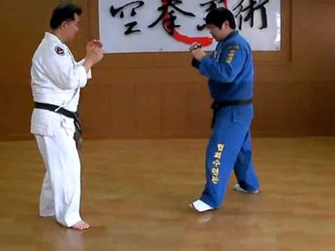 (96)Gongkwon Yusul sparring combination - Large outer reaping(O-soto-gari)Korea jiu jitsu Hakido