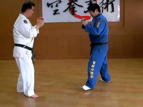 (96)Gongkwon Yusul sparring combination - Large outer reaping(O-soto-gari)Korea jiu jitsu Hakido