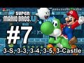 New Super Mario Bros U: World 3-Ship, 3-3, 3-4, 3-5, 3-Castle - Wii U 100% Star Coins Walkthrough
