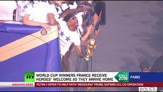 'Incredible sense of unity': World Cup winners France receive heroes' welcome in Paris - RUSSIATODAY