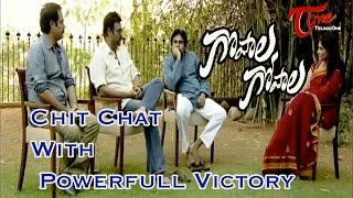 Chit Chat With Pawan Kalyan and Venkatesh    Gopala Gopala Movie Team    03 - TELUGUONE